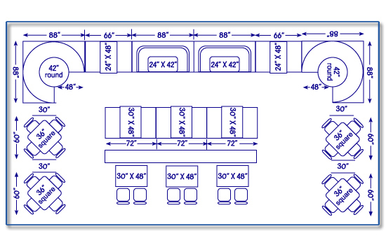 Seating Layout Design Quality Restaurant Equipment Masters