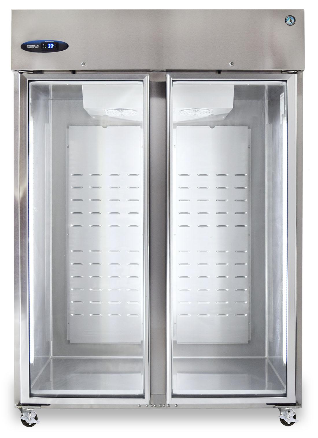 Hoshizaki Cr2s Fge Refrigerator Two Section Upright Full Glass