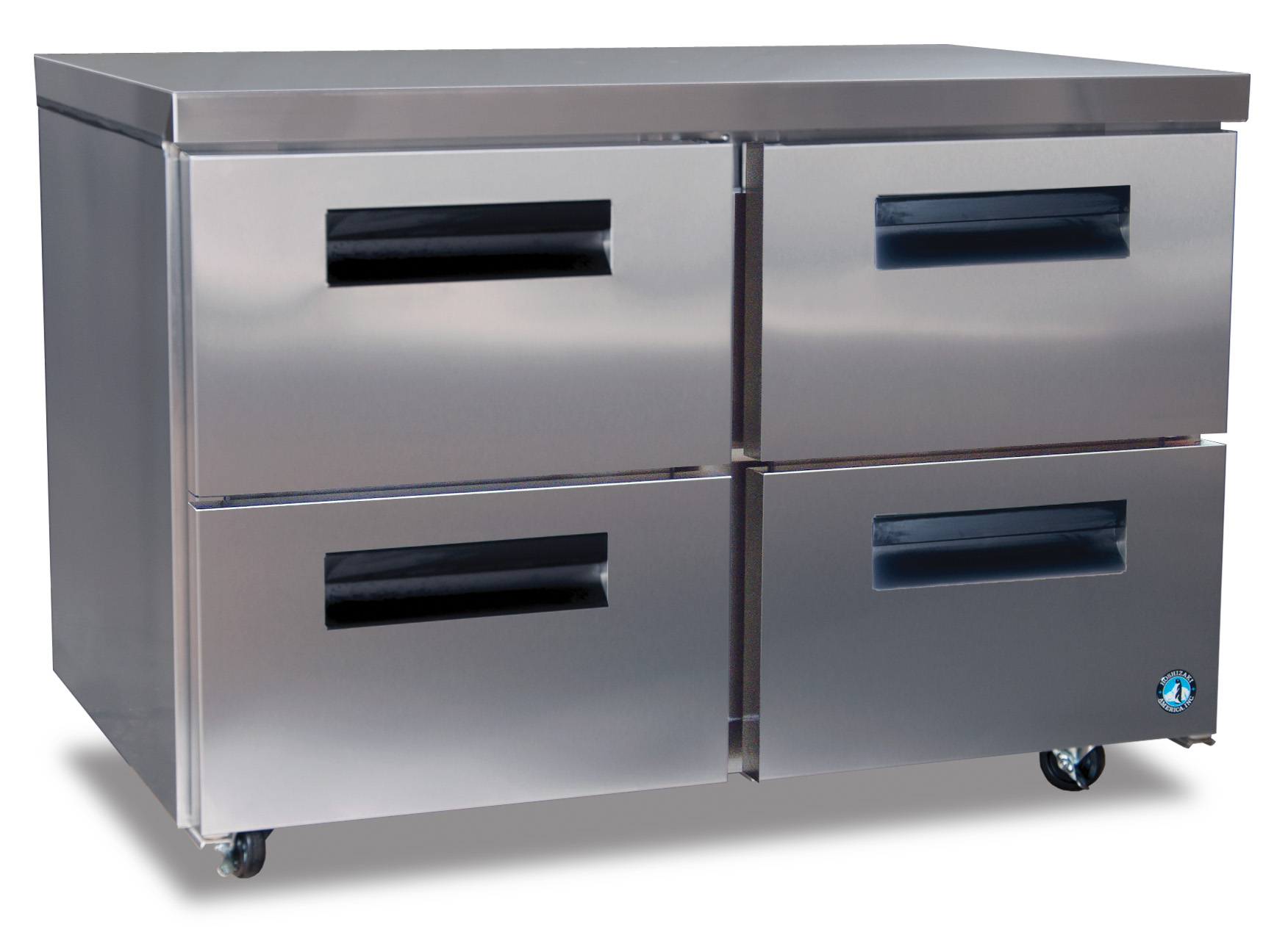 Hoshizaki CRMF48 D4, Freezer, Two Section Undercounter With Drawers