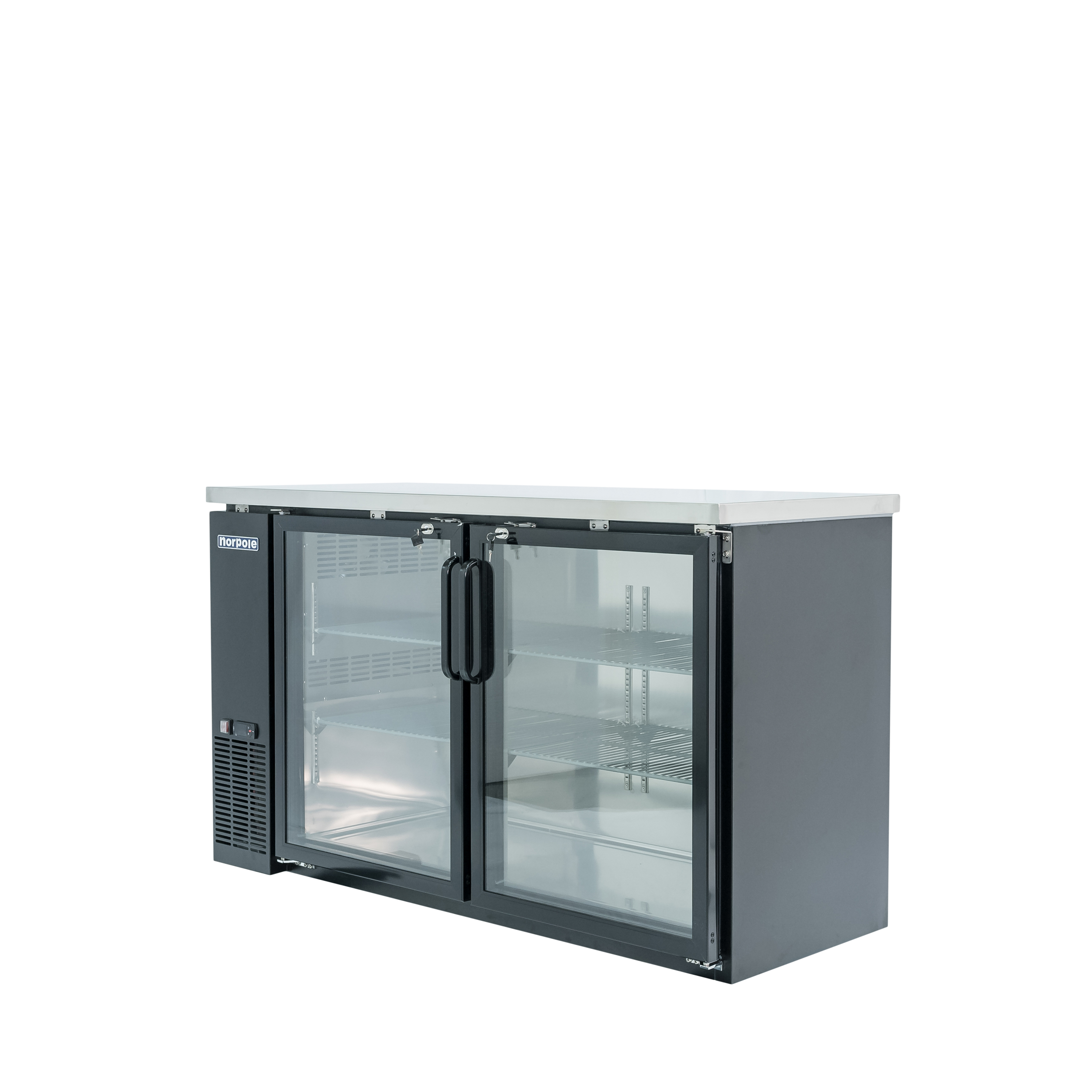 Led Light Fixtures For Walk In Cooler: Norpole NPGB-60 60 IN 2 Glass Door Back Bar Cooler-LED