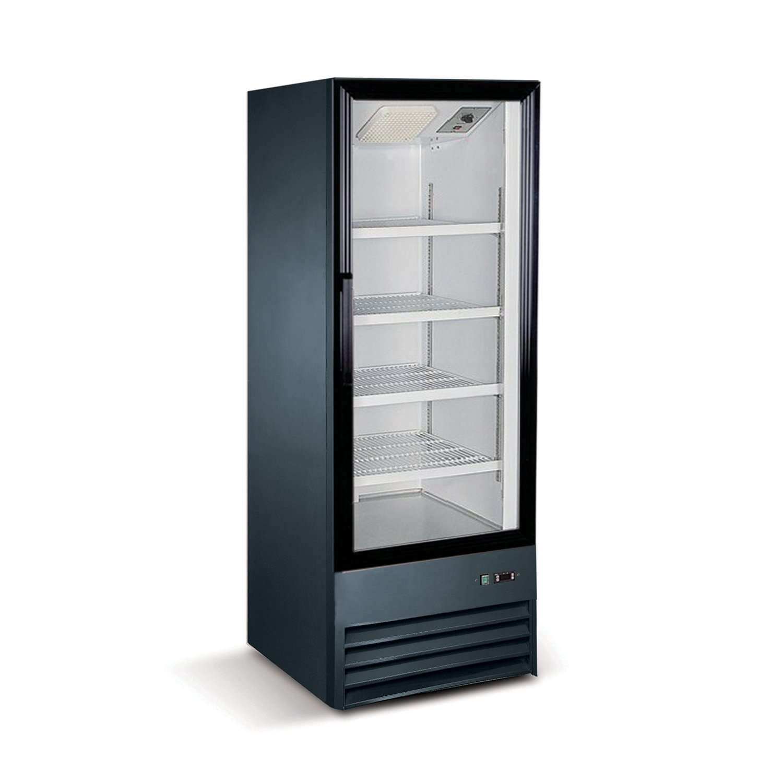 Norpole npgr1 s9b 1 glass door swing refrigerator in black for 1 glass door refrigerator
